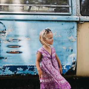 GYPSY DREAMER DRESS - purple