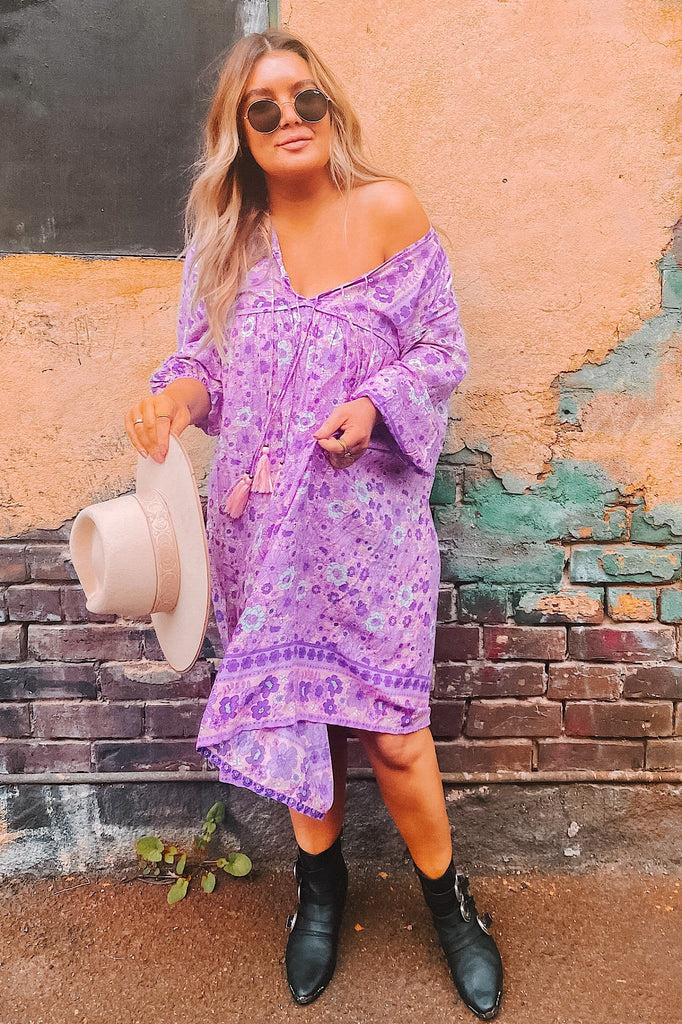 Endless Journey Boho Gown - lavender