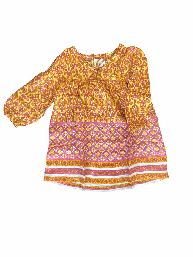 Saloon Boho Dress - amber/pink