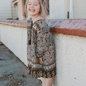SUN SEEKER BOHO DRESS - brown