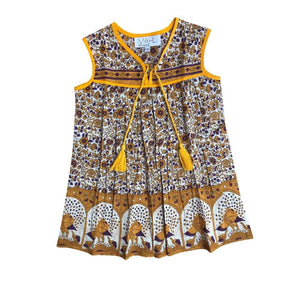GYPSY DREAMER DRESS - mustard