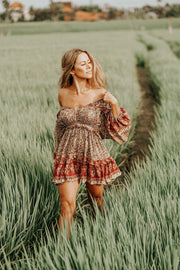 Gypsy Moon Mini Dress - earth