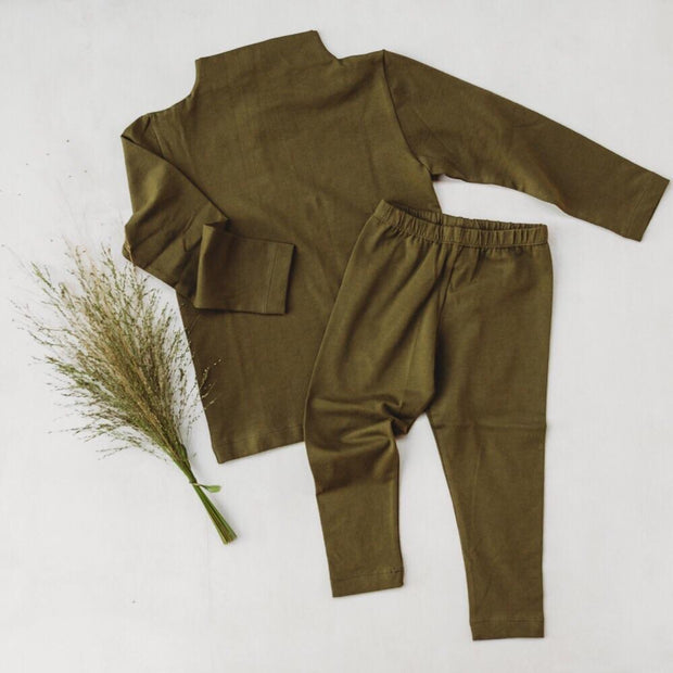 BASIC LEGGINGS - olive
