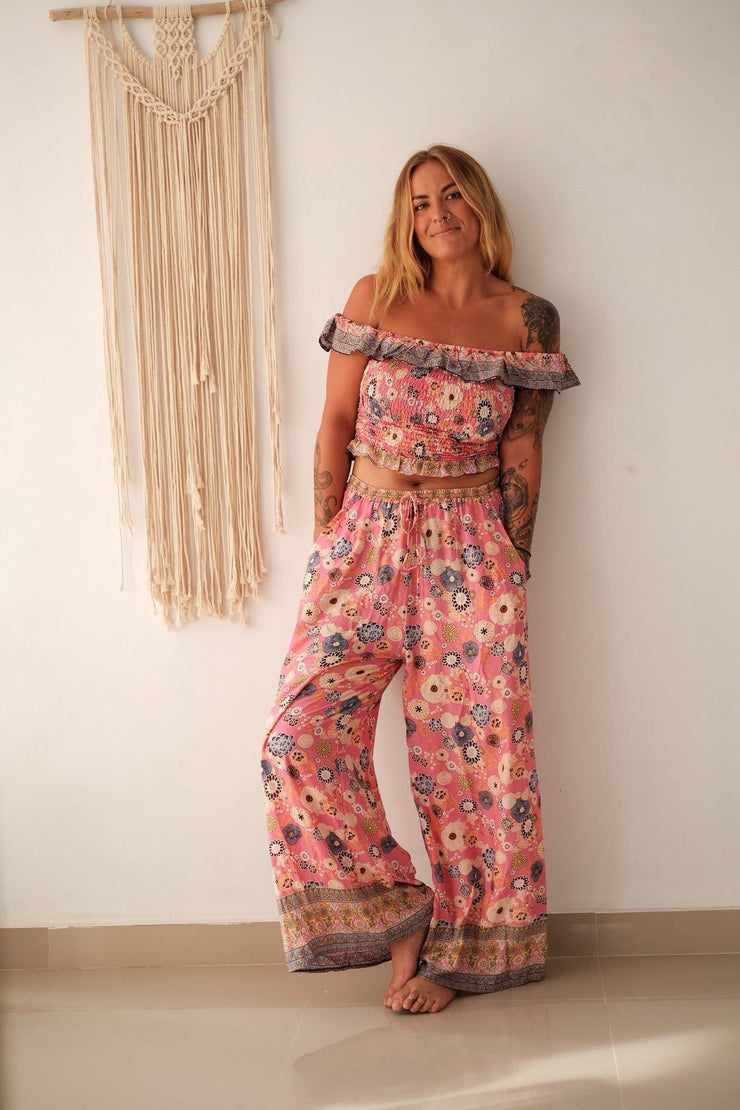 Orleans Wide Leg Pants - candy