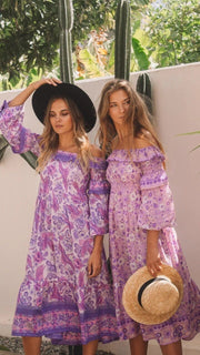 Sundream Shirred Gown - lavender