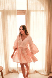 Wild Heart Mini Dress - blush