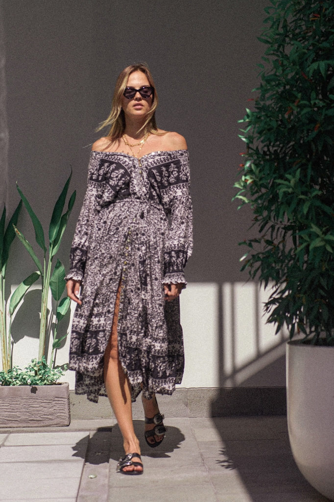 Cancun Duster Gown - meteorite