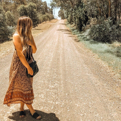 WILD HEART MAXI DRESS - brown