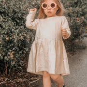 YOUNG FOLK DRESS - golden beige