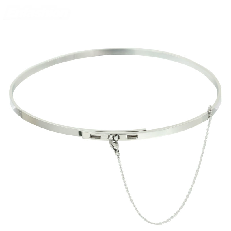 High Fashion Choker Necklace silver