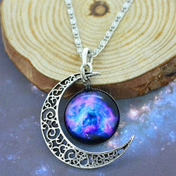 Moon and Galaxy Fairy Necklaces | Free Shipping