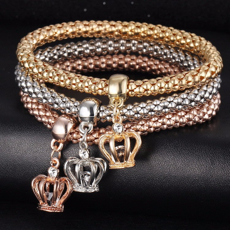 Crystal Crown Charm bracelet | Free Shipping