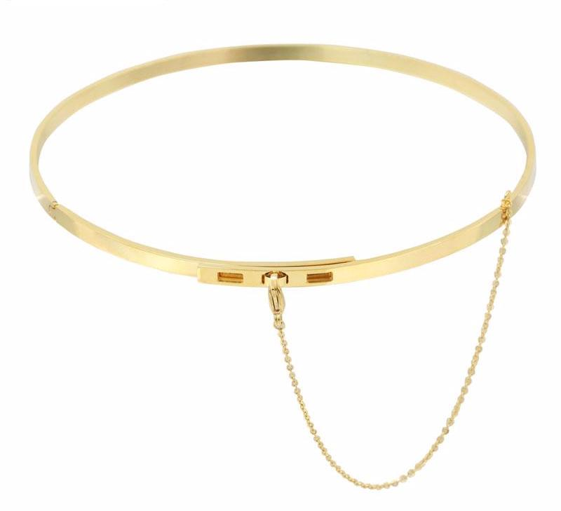 High Fashion Choker Necklace gold
