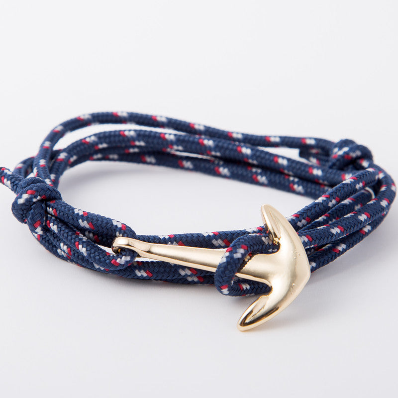 Gold Alloy Anchor Bracelet | Free Shipping