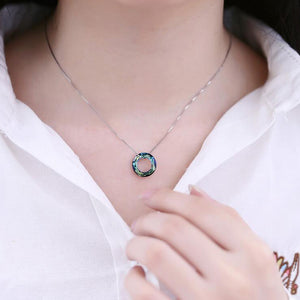Collier Blue Zircon Pendant Necklace | Free Shipping