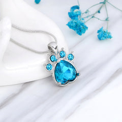 birthstone dog claw design necklace | Free Shipping