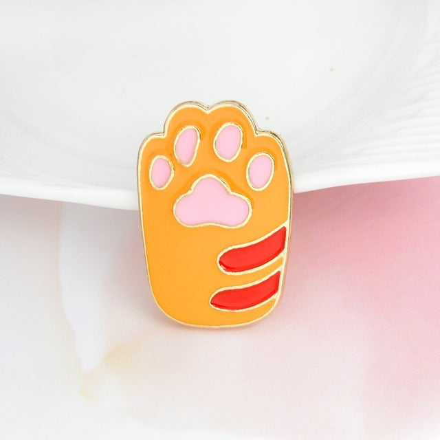 Cat and Dog paw design pin/brooches