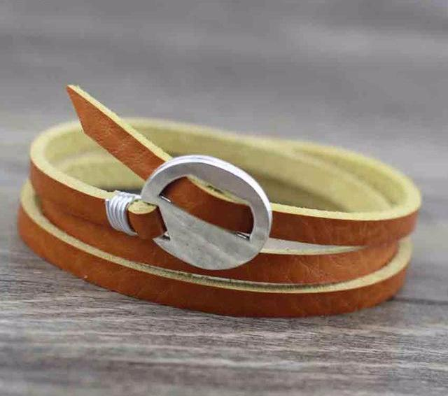 Handmade Leather Bracelet | Free Shipping