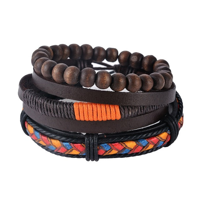Multi-layer Leather Wrap Bracelet | Free Shipping