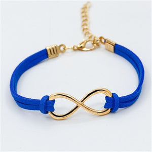 Vintage Infinity Leather Bracelet For Women