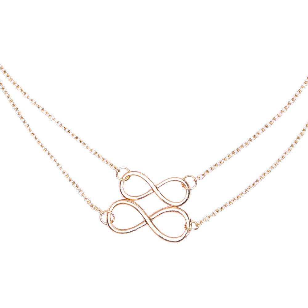 Double Infinity Pendant Necklace