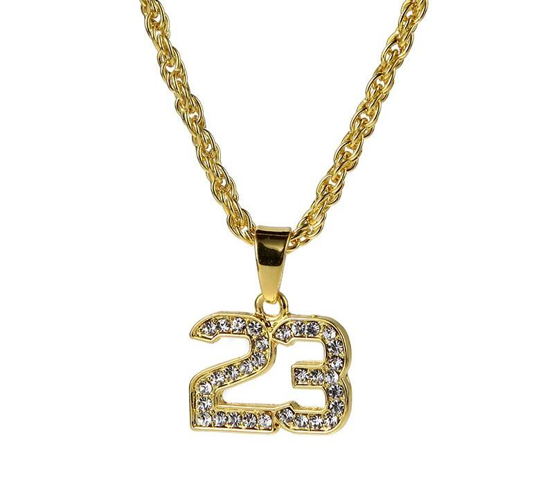 Basketball Legend Number 23 Pendant Necklace | Free Shipping