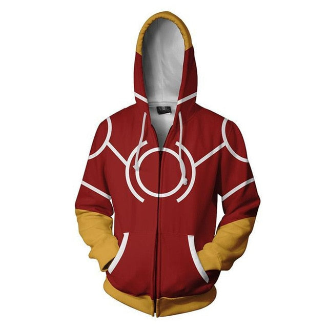 All Might My Hero Academia Costume Zip Up Hoodie