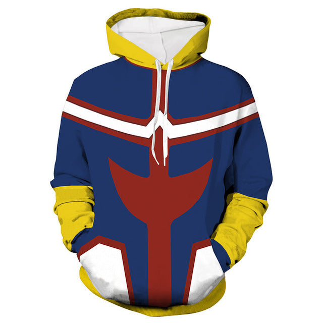 All Might My Hero Academia Costume Hoodie