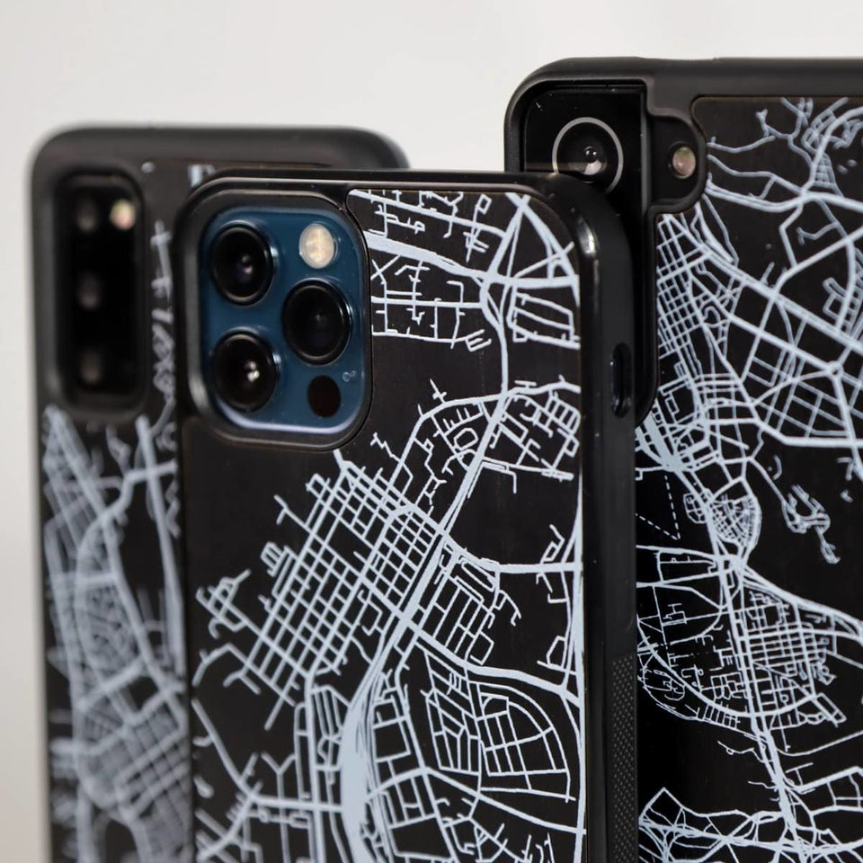 City Map Case - Charcoal