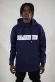 Horizon Hoodie with Side Zipper / Navy Blue