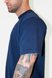 Peak Oversized T-Shirt- Navy Blue