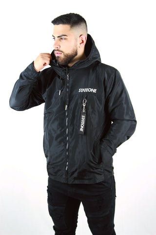 Black Jaded Hooded Jacket