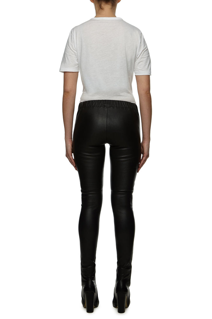 Womens Leather Pant 2 Black