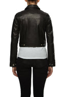 Womens Leather Jacket 140 Black