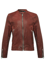 Mens Leather Jacket 60 Oxide