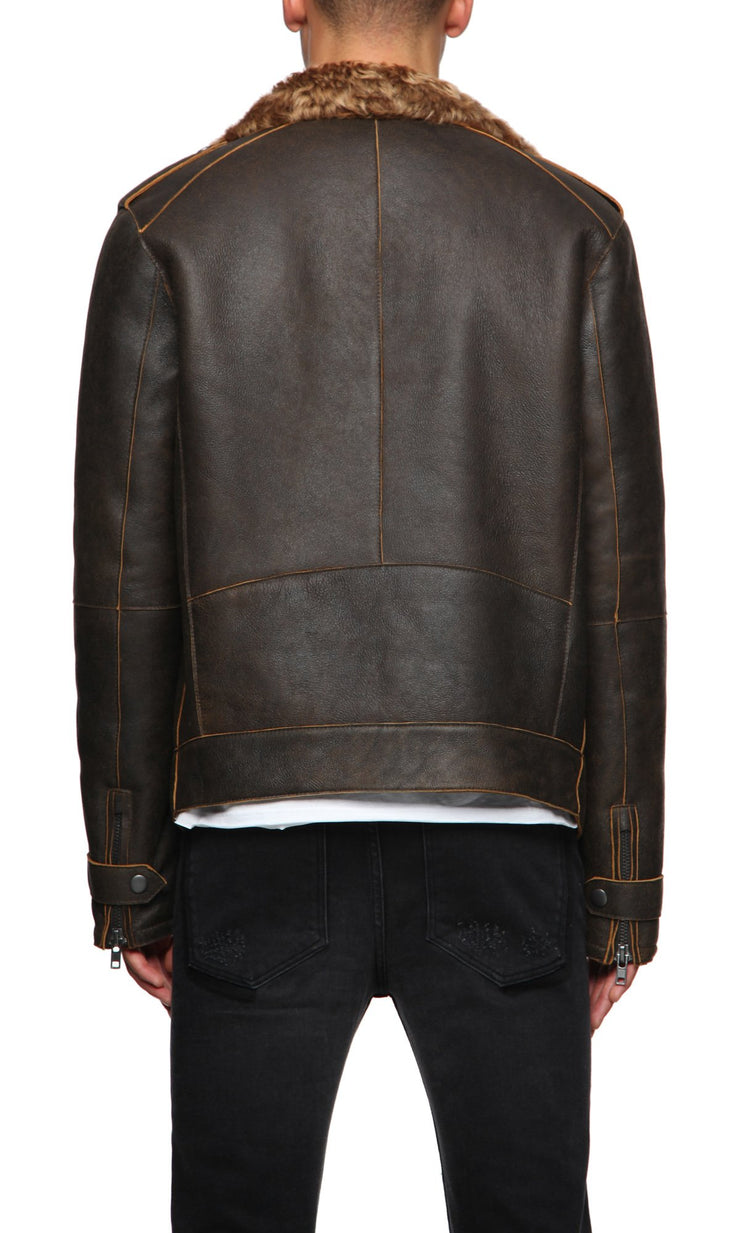 Mens Leather Jacket 102 Cocoa
