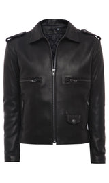 Mens Leather Jacket 133 Black