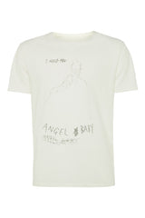 Mens Printed T-Shirt 131 Ivory