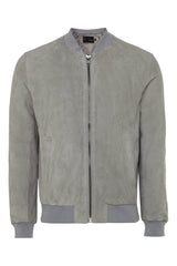 Mens Leather Jacket 81 Grey