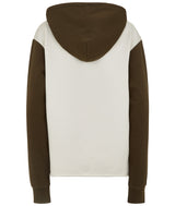 UNISEX COLOUR BLOCK HOODY GREEN / IVORY