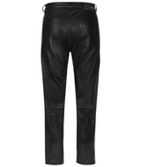 MENS LEATHER 5 POCKET JEAN BLACK