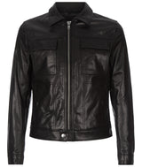 Mens Leather Jacket 139 Black
