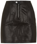 Womens Leather Skirt 21 Black
