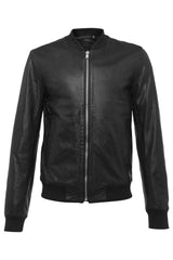 Mens Leather Jacket 81 Black