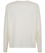 MENS VARSITY LONG SLEEVE TSHIRT IVORY