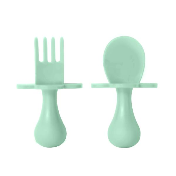 Mint Fork & Spoon Cutlery Set for Babies & Toddlers