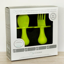 Green Fork & Spoon Cutlery Set for Babies and Toddlers