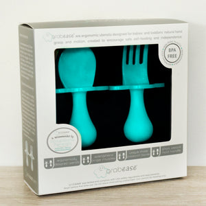 Teal Fork & Spoon Cutlery Set for Babies and Toddlers