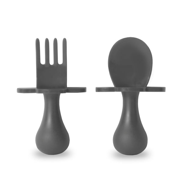 Grey Fork & Spoon Cutlery Set for Babies and Toddlers