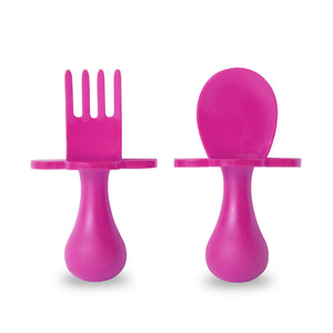 Pink Fork & Spoon Cutlery Set for Babies and Toddlers
